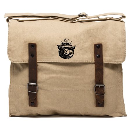 Grab A Smile Smokey Bear Heavyweight Canvas Medic Shoulder Bag (Canvas Purse)