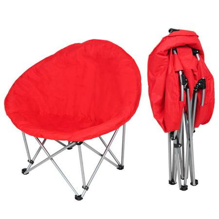 Yescom Oversize Folding Saucer Padded Moon Chair Comfort Lounge Bedroom Garden Furniture Red
