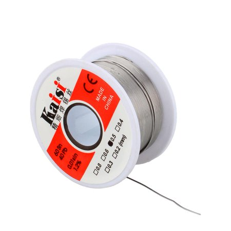 WALFRONT 50G 0.2mm-0.6mm 60/40 Rosin Core Flux 1.2% Tin Lead Roll Soldering Solder Wire,Solder Wire Tin Lead Solder