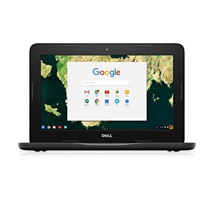 Dell Re certified Chromebook 11-3180, Intel Celeron N3060 2.48GHZ, 2GB, 16GB  11.6 HD, Webcam, Wi-Fi + BT, Chrome OS, BLACK, 1 Year Warranty