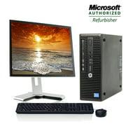 "HP Desktop Computer ProDesk 400 G2 SFF Intel Core i3 Processor 8GB RAM 500GB HDD Keyboard and Mouse WIFI 19"" LCD Monitor - Refurbished Windows 10 PC"