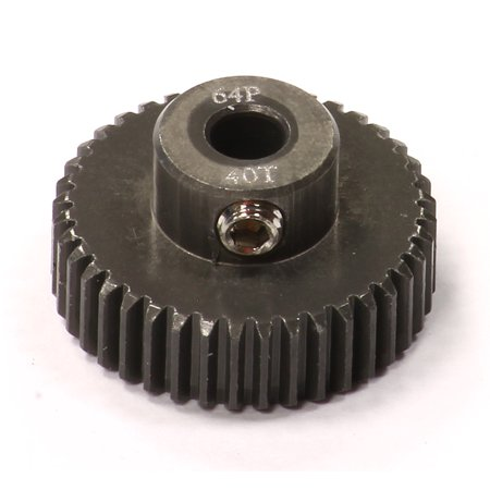 - Integy RC Toy Model Hop-ups C24285 Billet Machined Hard Anodized Aluminum 64 Pitch Pinion 40 Teeth for 0.125 Shaft