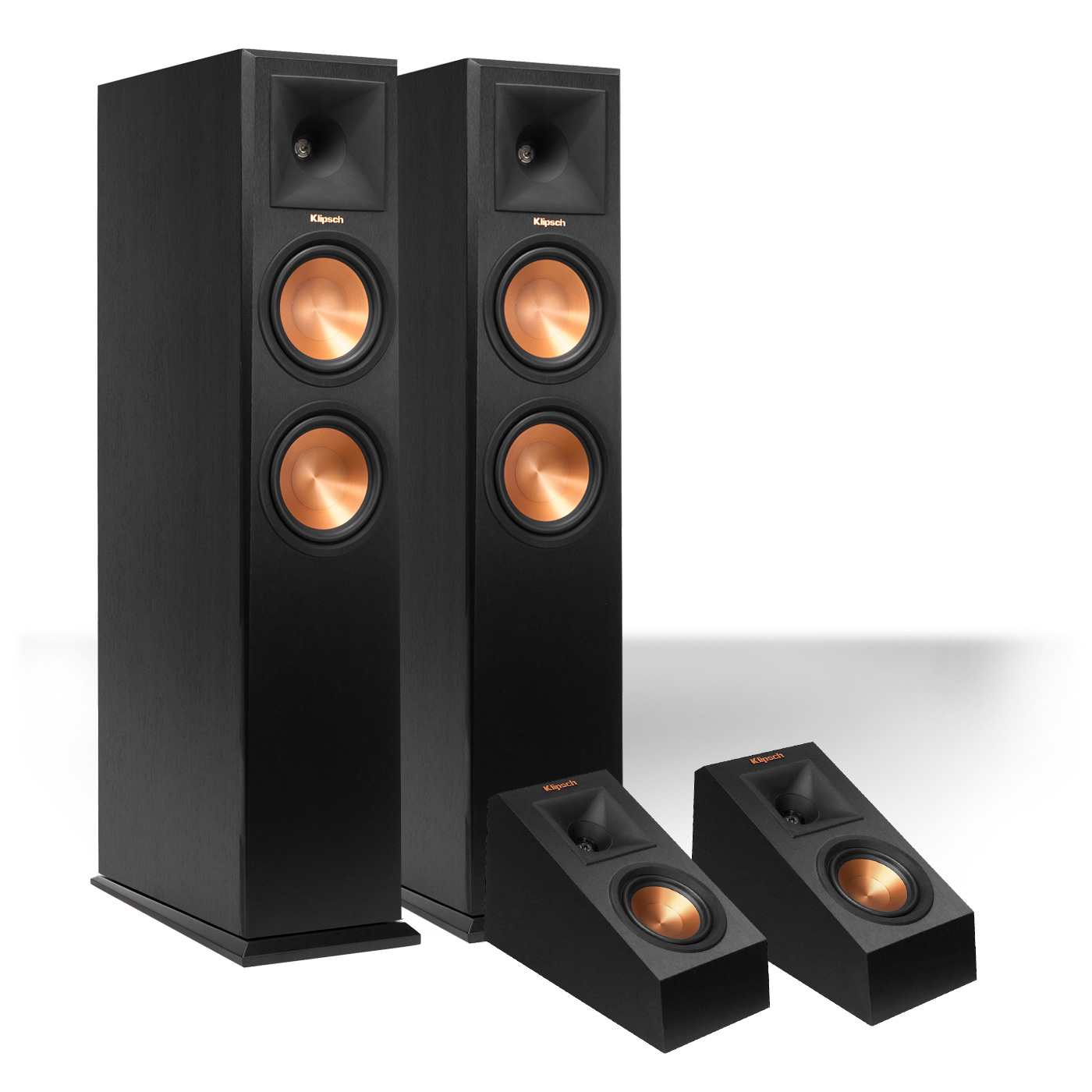 Klipsch RP-260F Reference Premiere Floorstanding Speaker with RP-140SA Add-On Dolby Atmos Enabled Elevation Speakers by Klipsch