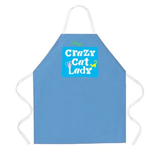 Attitude Aprons by L.A. Imprints Crazy Cat Lady Apron in Columbia