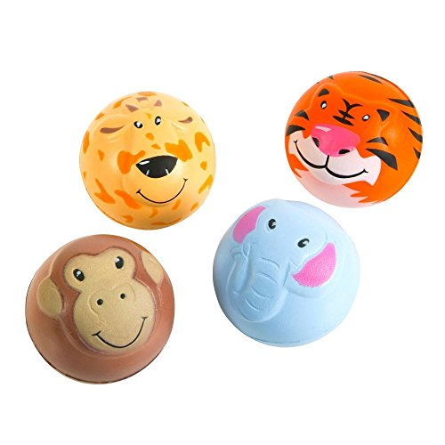 "Dozen 2"" Zoo Animal Stress Balls"