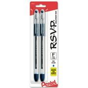 Pentel RSVP Ballpoint Pen, (0.7mm) Fine Line, Blue Ink 2-Pk