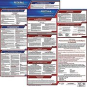 JJ KELLER 200-AZ-K Labor Law Poster Kit, AZ, Spanish, 19 In. W