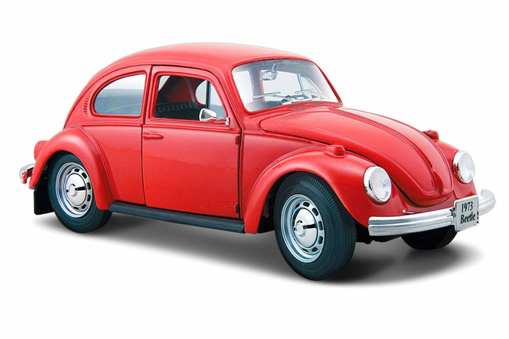 Volkswagen Beetle Hard Top, Red Maisto 31926R 1 24 Scale Diecast Model Toy Car by Maisto