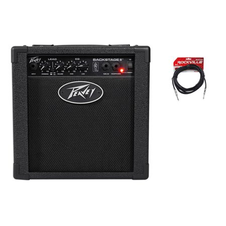Low Capacitance Guitar Cable (Peavey Backstage 10w Combo Guitar Amplifier+2 Switchable Channels + Guitar)