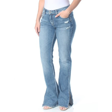 SILVER Womens Blue High Rise Curvy Slim Jeans  Size: 30