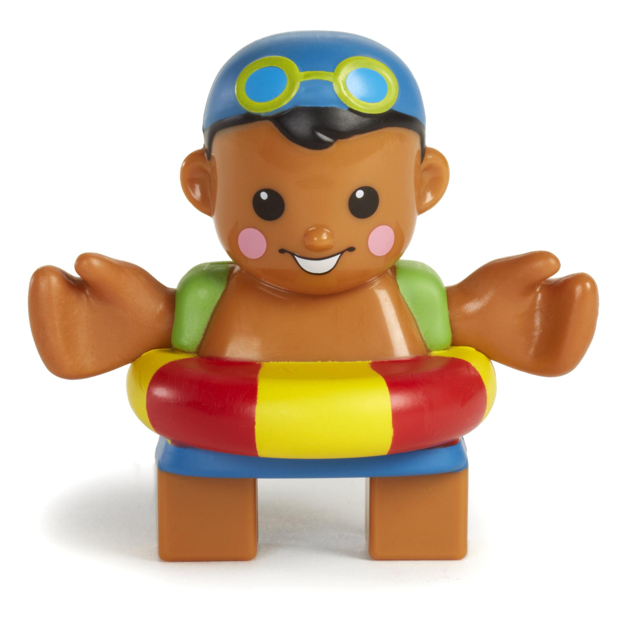 Waffle Blocks Figure Pack- Swimmer