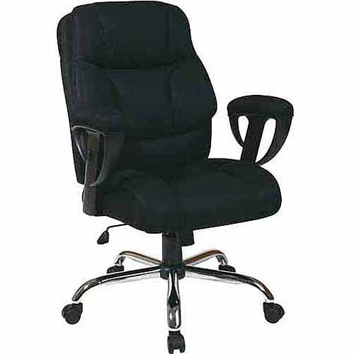 Office Star Executive Big Man's Office Chair with Mesh Seat and Back, Black