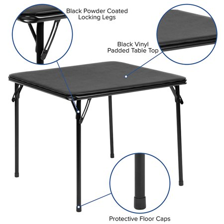 Kids Black Folding Table