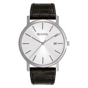 Bulova Men's Classic Dress Watch with Leather Strap