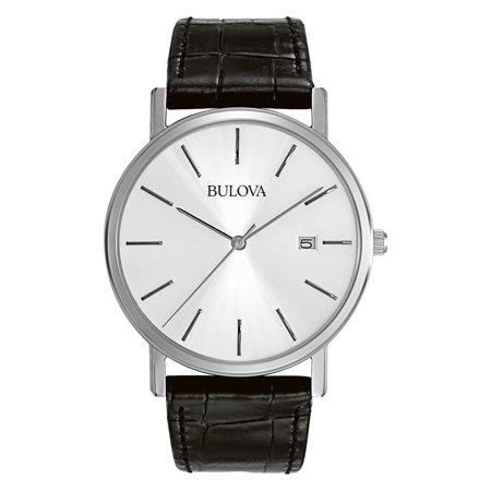 Bulova Men's Classic Dress Watch with Leather Strap
