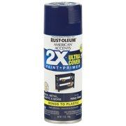 (3 Pack) Rust-Oleum American Accents Ultra Cover 2X Gloss Navy Blue Spray Paint and Primer in 1, 12 oz