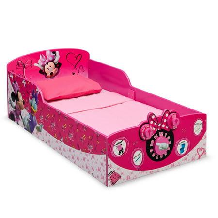 Delta Children Minnie Mouse Interactive Wood Toddler Bed Kids Bedroom Furniture