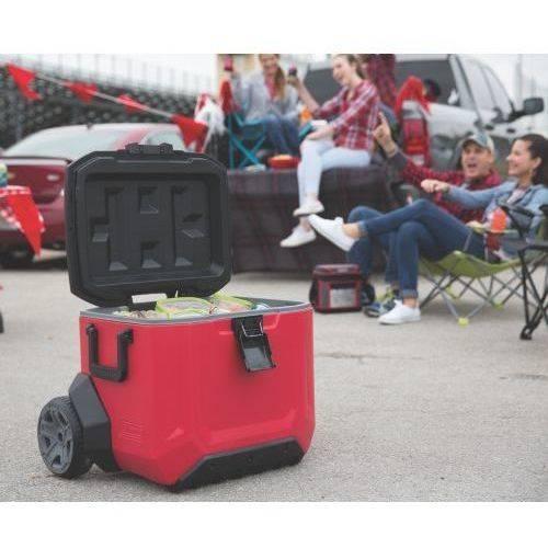 Coleman 55 Qt Rugged A T Wheeled Cooler 691044554521 Ebay