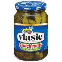 Vlasic Snackmms Kosher Dill Pickles 16 fl oz