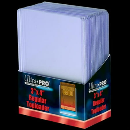 25 - Ultra Pro 3 X 4 Top Loader Card Holder for Baseball, Football, Basketball, Hockey, Golf, Single Sports Cards Top Loads - Sportcards Card Collecting (Top 25 High School Football Teams In Texas)