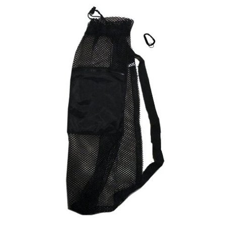 Mesh Drawstring Snorkel Bag with Black Zip Pocket
