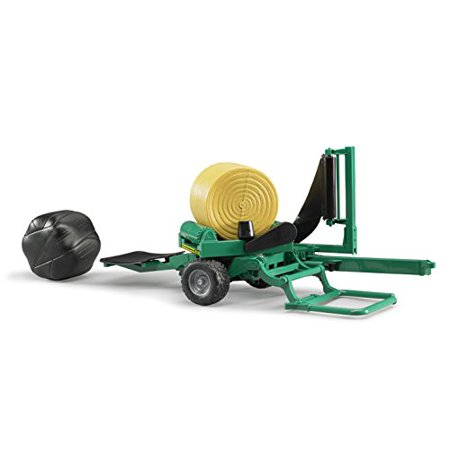 Bale wrapper with yellow and black round bales - image 4 de 4