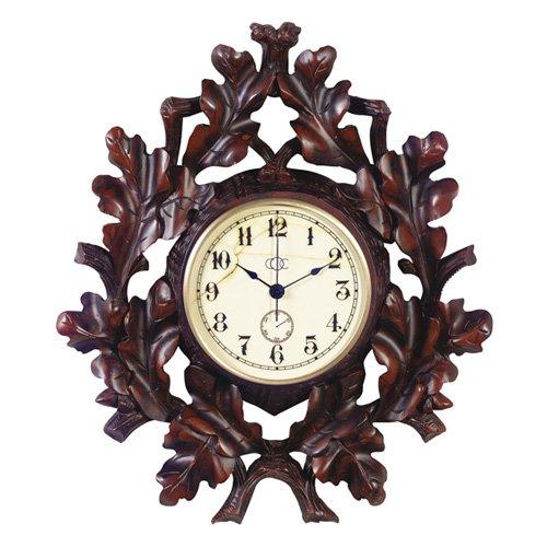 Oak Leaf & Twig Wall Clock - 10W in.