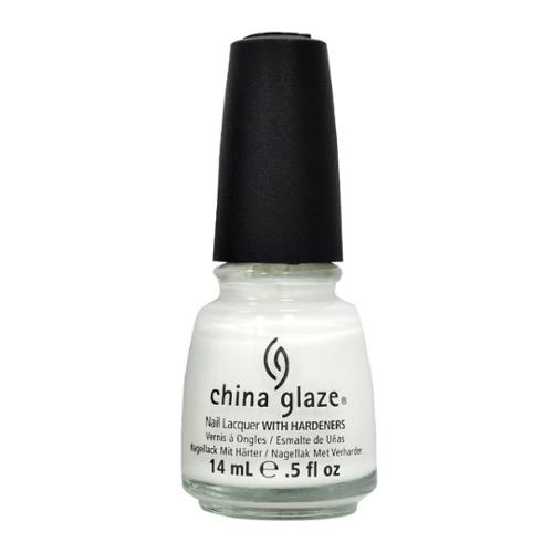 China Glaze 0.5oz Nail Polish Lacquer Clay White, WHITE OUT, 70276