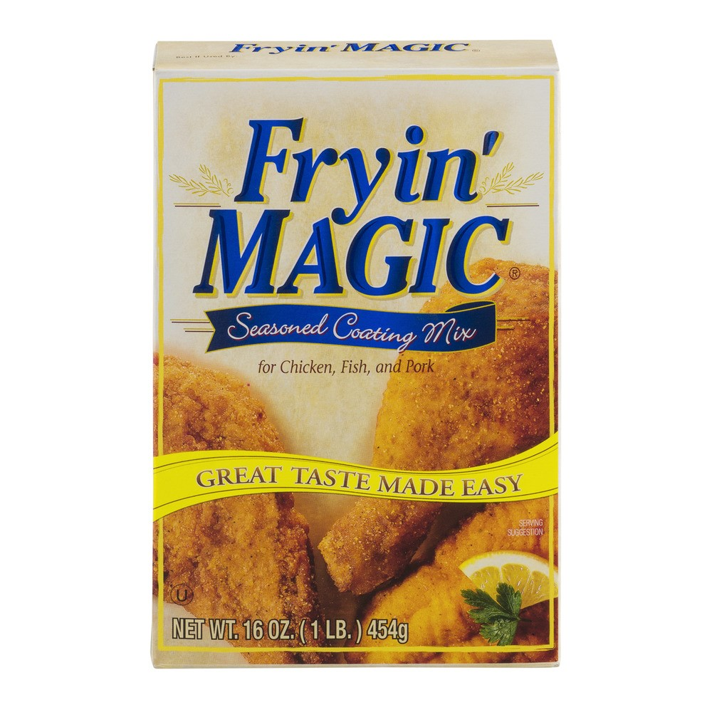 Fryin' Magic? Seasoned Coating Mix for Chicken, Fish, and Pork 16 oz. Box