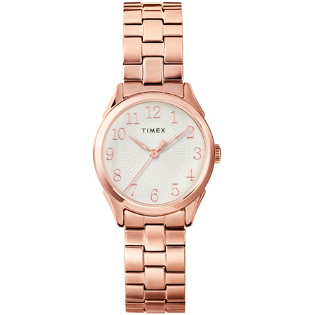 Timex Women's Briarwood 28mm Rose Gold Stainless Steel Expansion Band Watch
