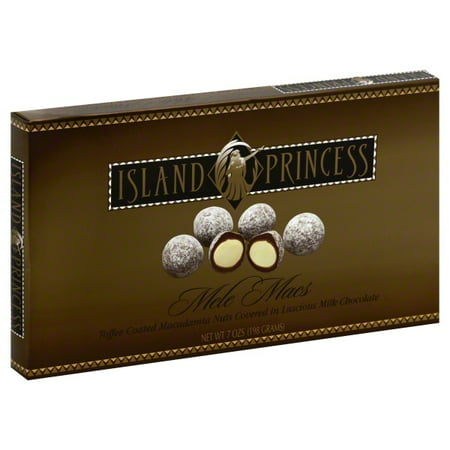 Milk Chocolate Toffee - Island Princess Macadamia Nuts Toffee Coated Milk Chocolate, 7 Oz.