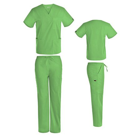 Nurse Doctor Halloween Costume Unisex Men's Women's Scrub Set Hospital Patient (Halloween Nurse Scrubs)
