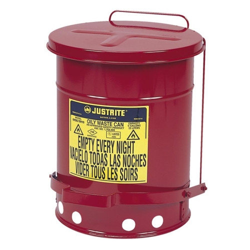 R3 Safety Oily Wastecan, Lead-free, 6 Gallon Capacity, 11-7/8''x15-7/8''