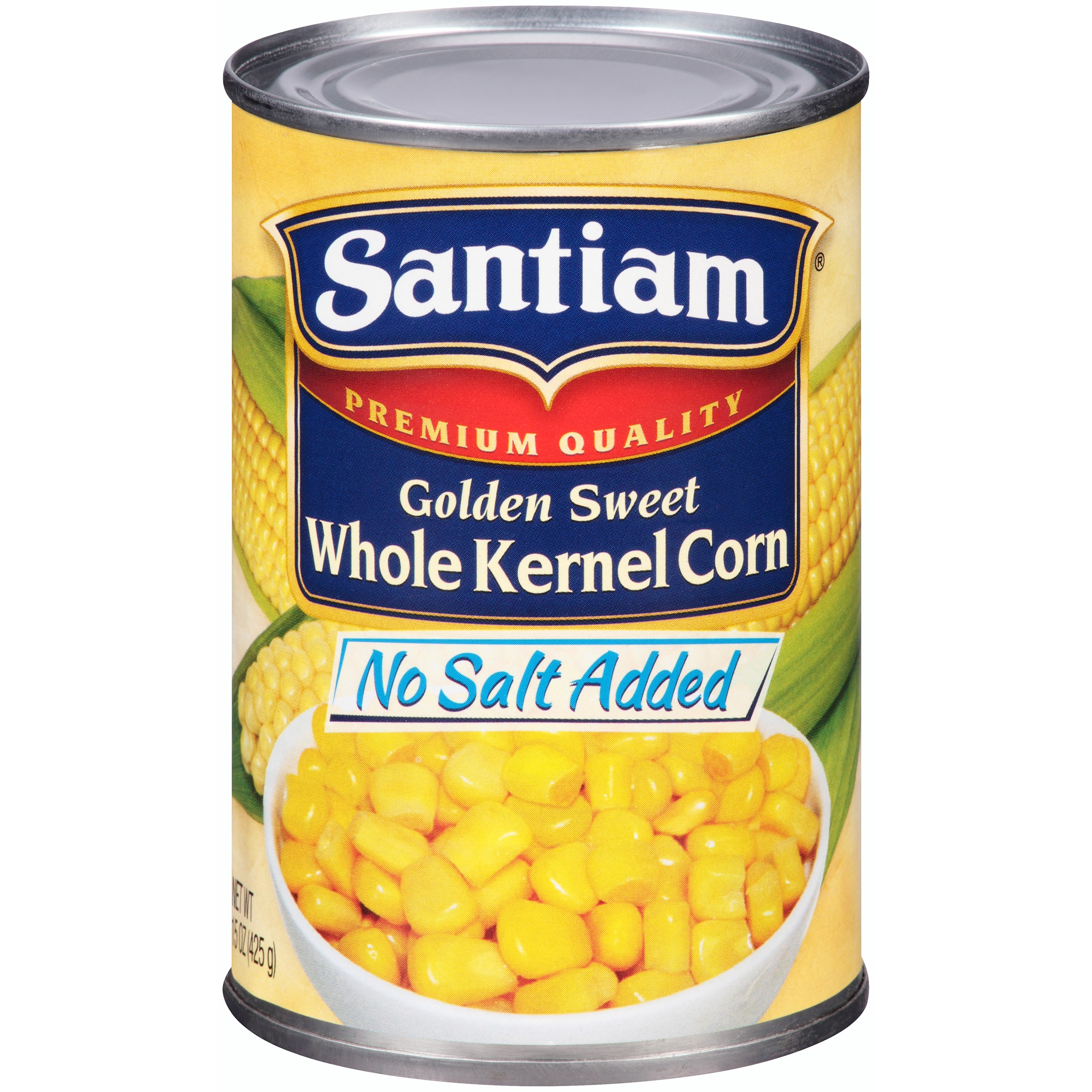 Santiam® No Salt Added Golden Sweet Whole Kernel Corn 15 oz. Can