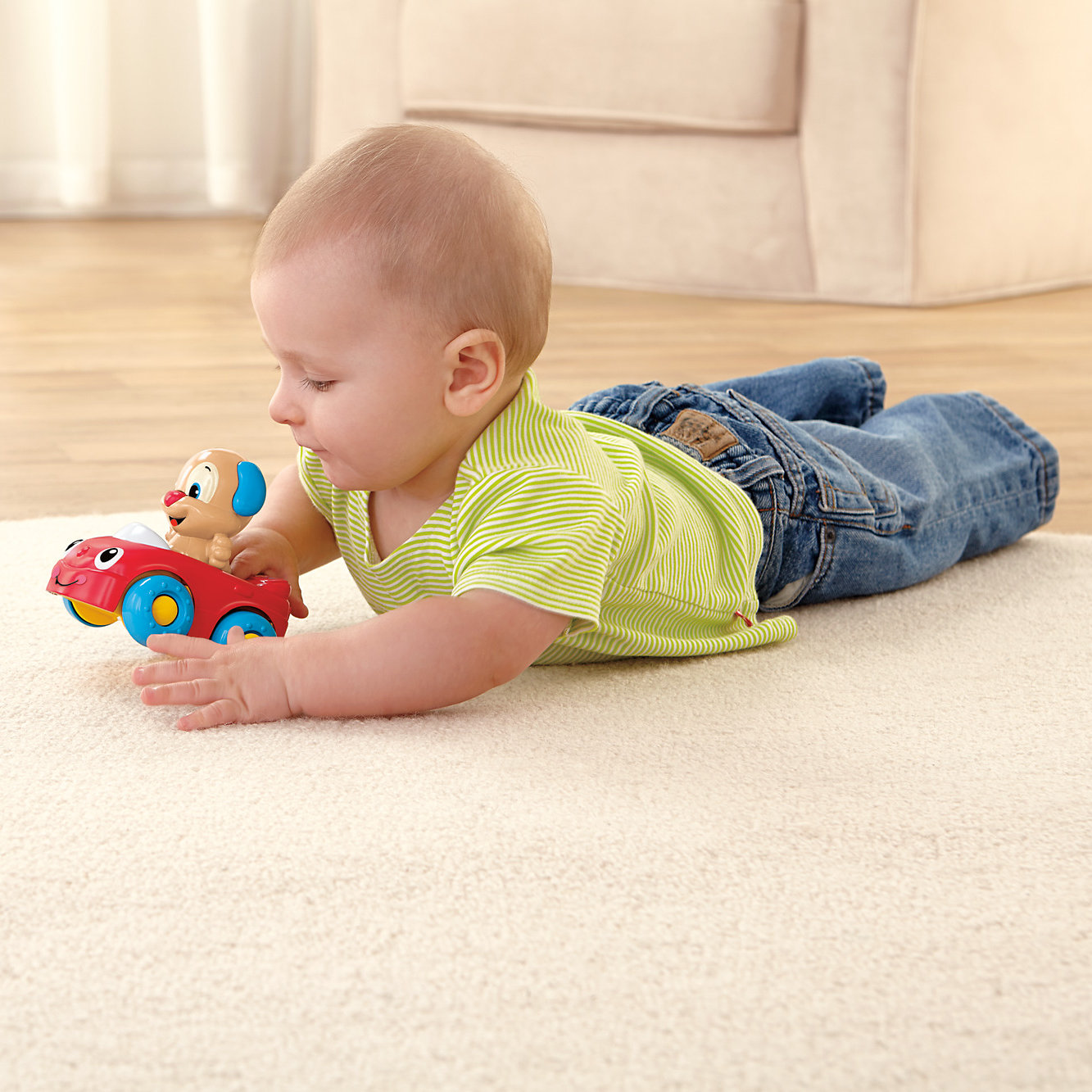 Fisher Price Laugh & Learn Puppy's Learning Car by Fisher-Price