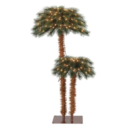 island breeze pre lit artificial tropical christmas palm tree w white lights - Christmas Palm Tree Pictures
