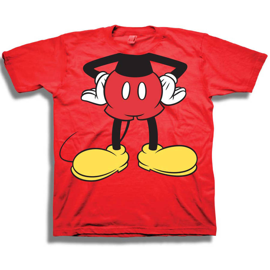 Disney Mickey Mouse Headless Toddler Boy Short Sleeve Crew Neck Graphic T-Shirt