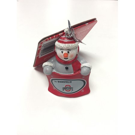 Officially Licensed NCAA Snowman Towel Holding Ornament Ohio State