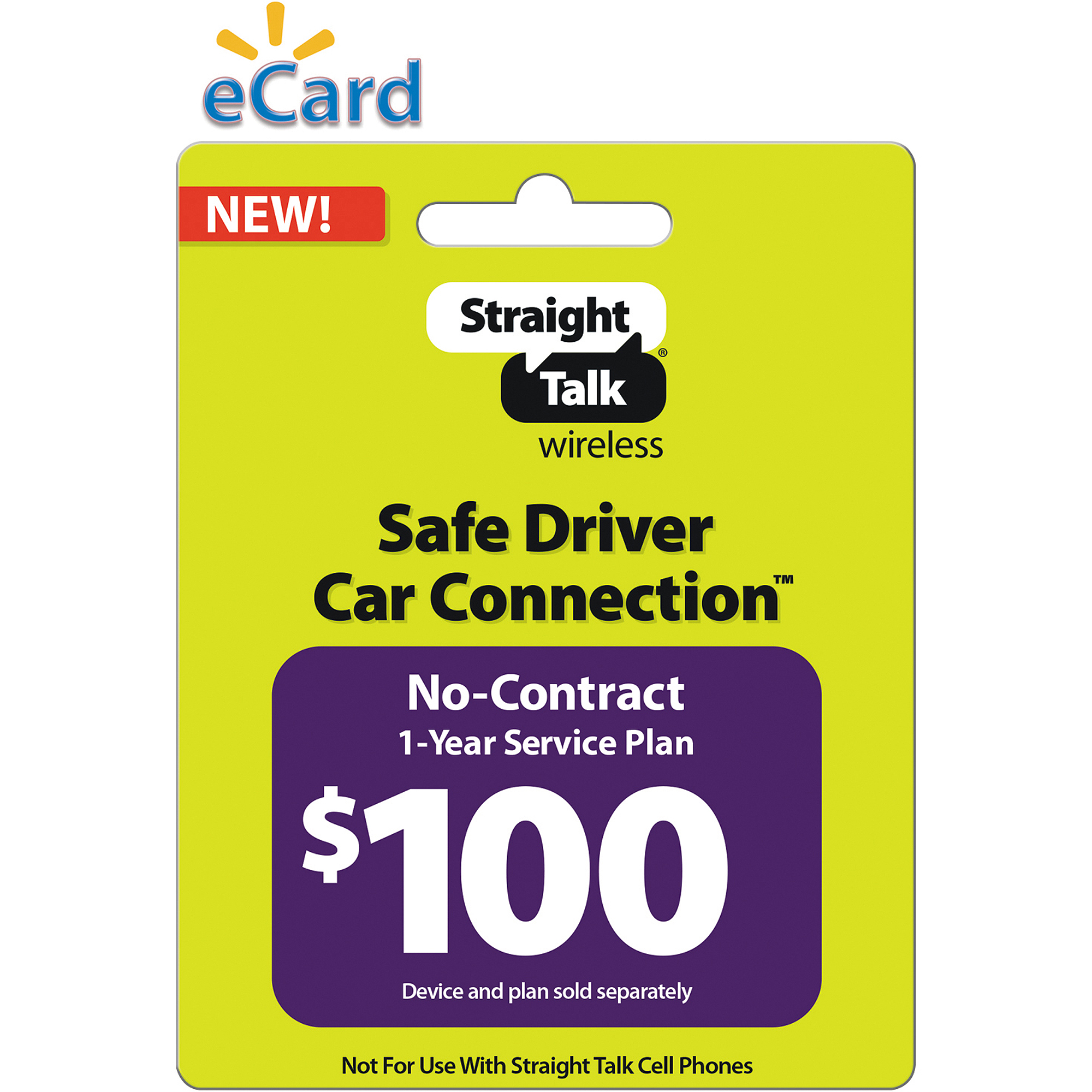 Straight Talk Safe Driver Car Connection 365-Day Plan $100 (Email Delivery)