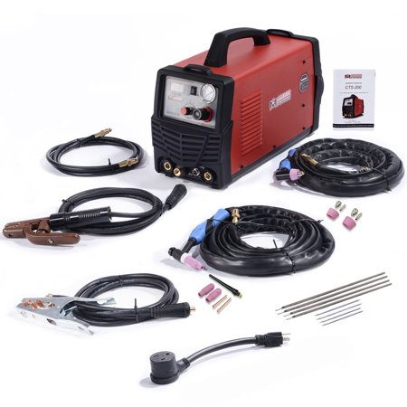 Amico Power CTS-200, 3-IN-1 Combo 50A-Plasma Cutter, 200A TIG-Torch & Stick Arc DC Welder 120/240V Dual Voltage