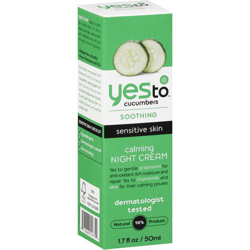 Yes To Cucumbers Soothing Calming Night Cream, 1.7 fl. oz.