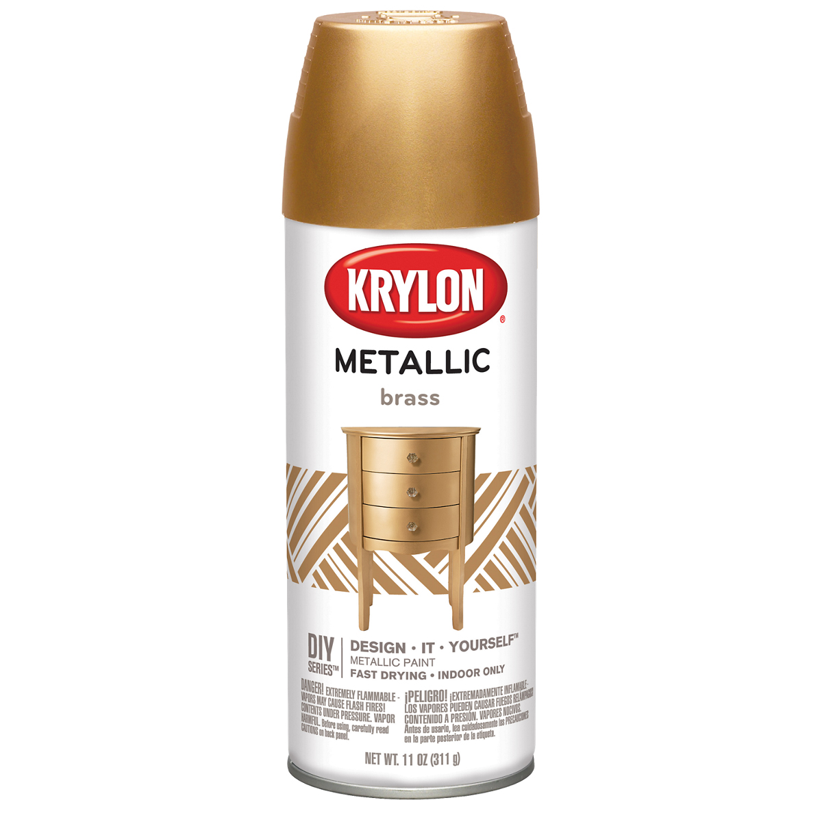 Metallic Spray Paint 11oz-Brass