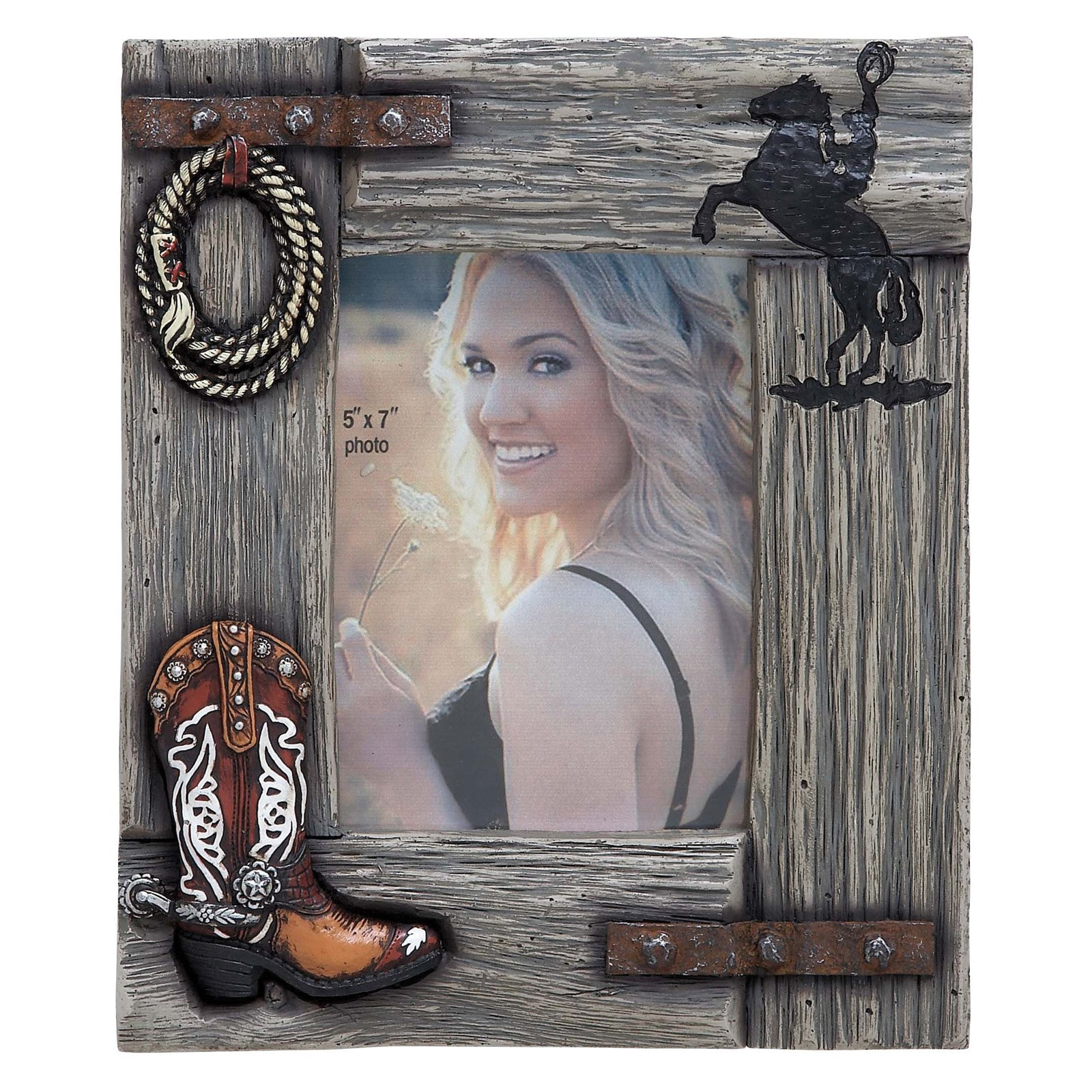 Woodland Imports Western 5 x 7 Picture Frame