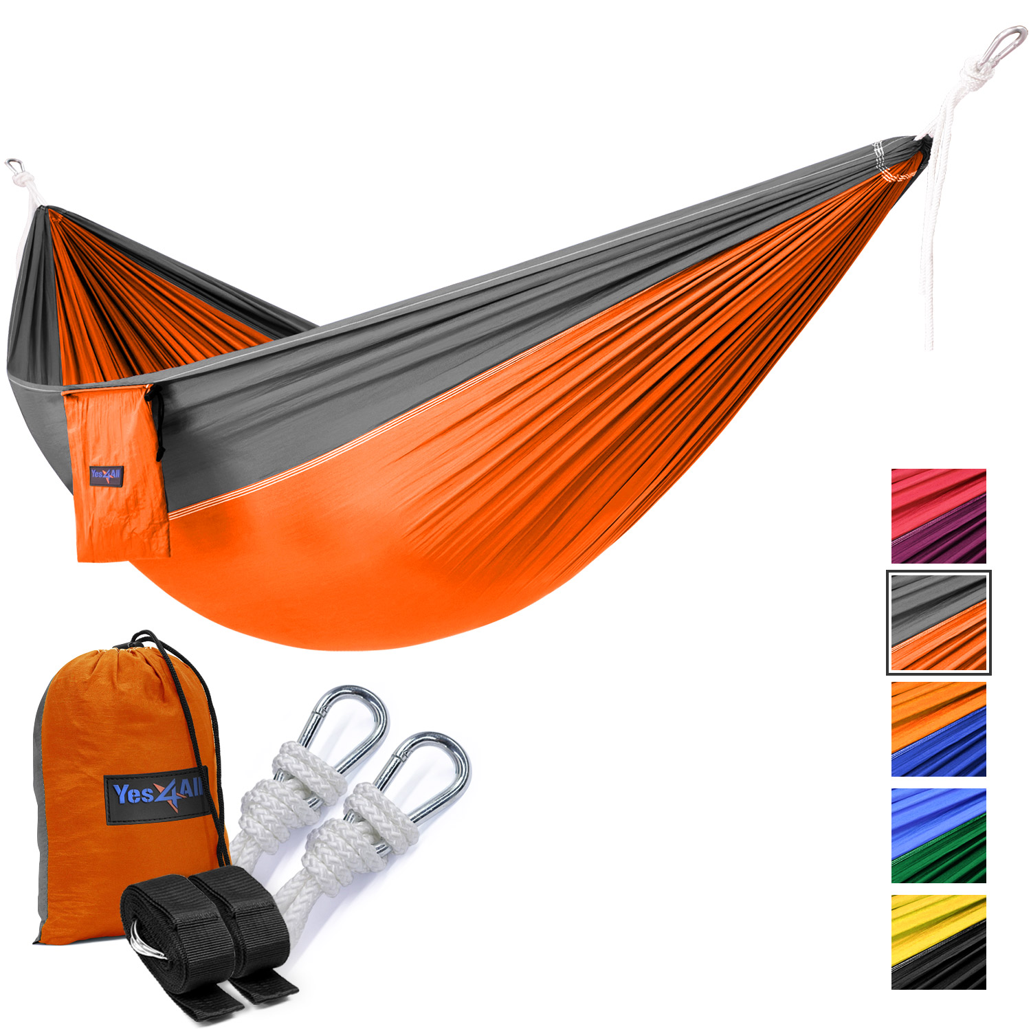 Yes4All Single Lightweight Camping Hammock with Strap & Carry Bag