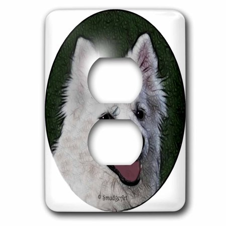 3dRose American Eskimo Dog 2 Plug Outlet Cover lsp 8144 6