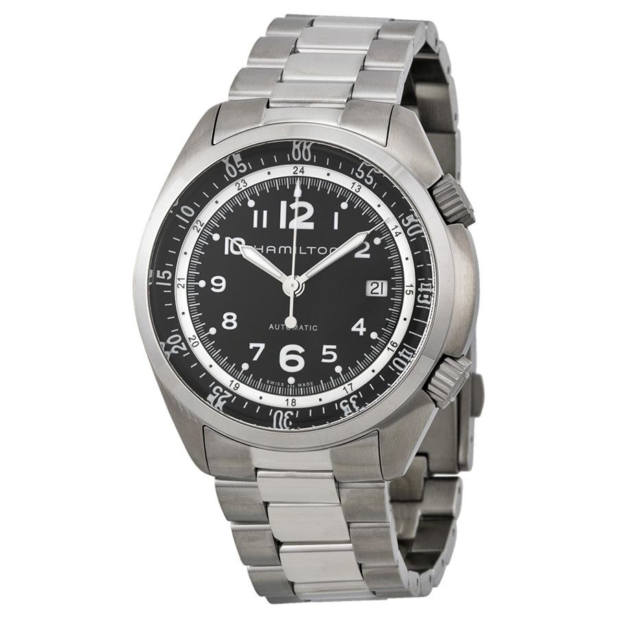 Hamilton Khaki Pilot Pioneer Automatic Black Dial Mens Watch H76455133 by Hamilton