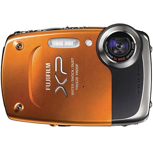 "Fujifilm FinePix XP20 Orange 14.2MP Digital Camera w/ 5x Optical Zoom Lens, 2.7"" LCD Display, HD Video, Waterproof, Refurbished"