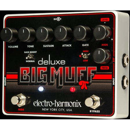 Electro Harmonix Deluxe Big Muff PI Fuzz Pedal True Bypass w/ 9V Battery Part Number: (Best Big Muff Pedal)