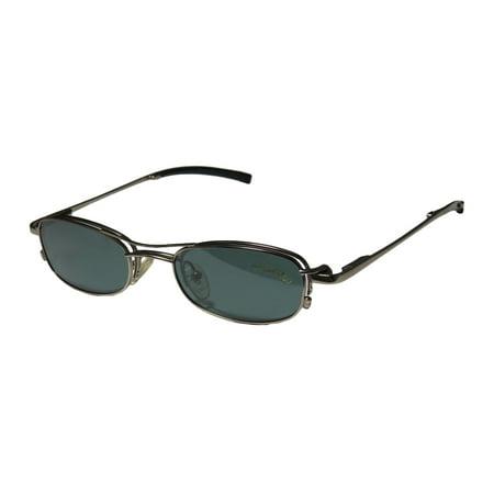 Eyes On Springs Glasses (New Smartclip 243 Mens/Womens Designer Half-Rim Satin Sand Half-rim With Polarized Clip-on Lenses Frame Demo Lenses 46-18-135 Sunglass Lens Clip-Ons Spring Hinges Eyeglasses/Eye)