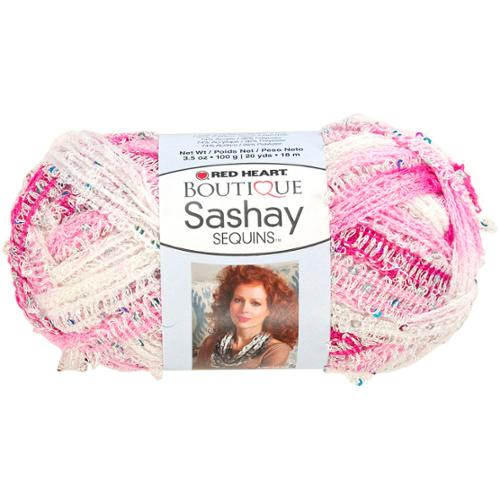 Red Heart Boutique Sashay Sequins Yarn-Cotton Candy